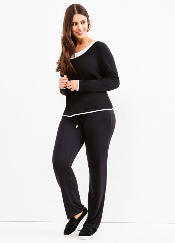 Curvy trousers with drawstring | OVS