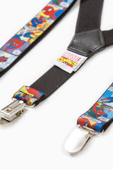 Stretch braces with Spiderman pattern, Grey, hi-res