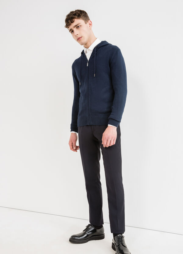 100% cotton cardigan with hood | OVS