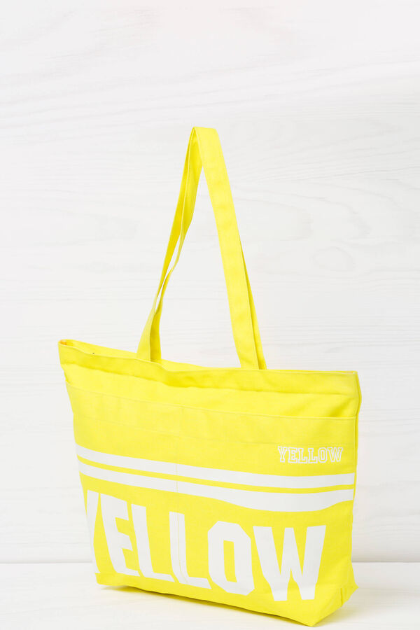 Cotton shopping bag with print | OVS