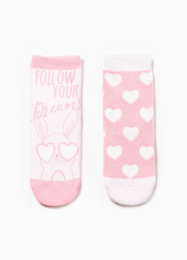 Two-pair pack embroidered slipper socks | OVS