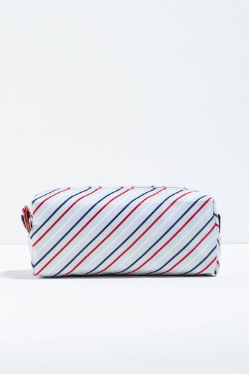 Patterned beauty bag with zip, Grey/Blue, hi-res