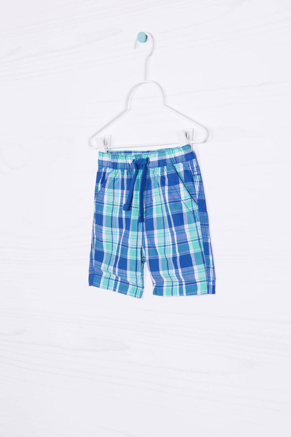Bermuda shorts in 100% cotton with check pattern | OVS