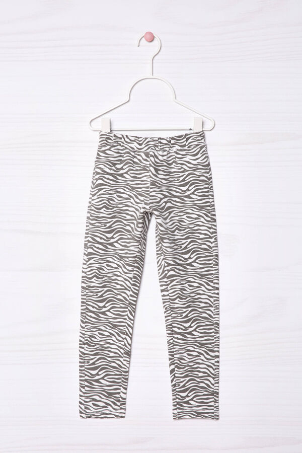 Jeggings stretch con stampa | OVS