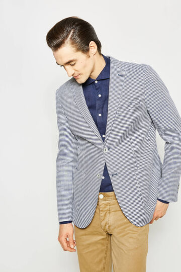 Rumford jacket in patterned cotton and linen