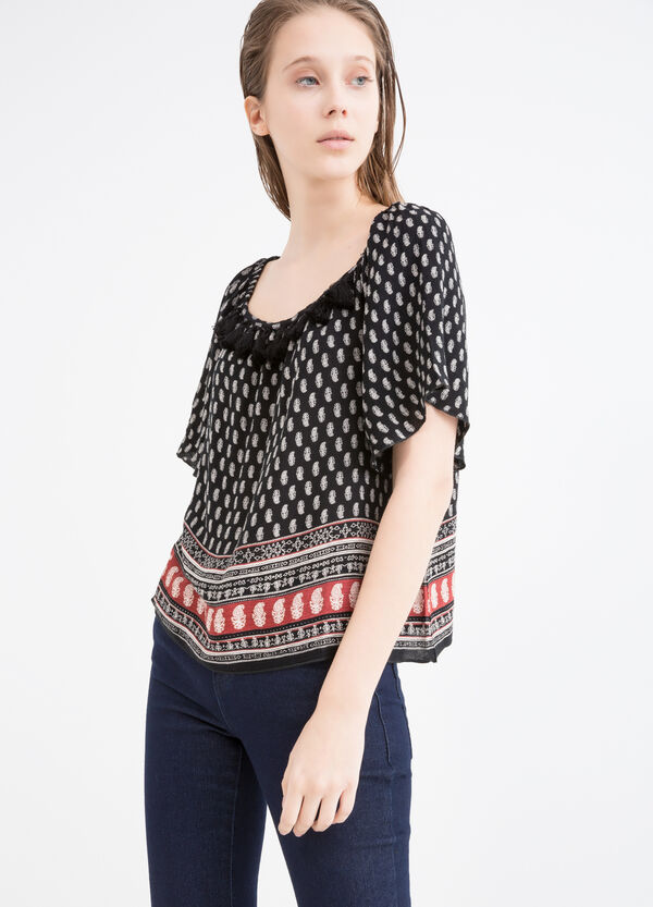 Printed blouse in 100% viscose | OVS