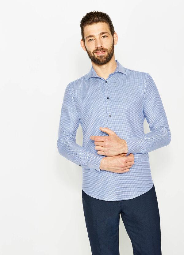 Slim-fit patterned formal shirt   OVS