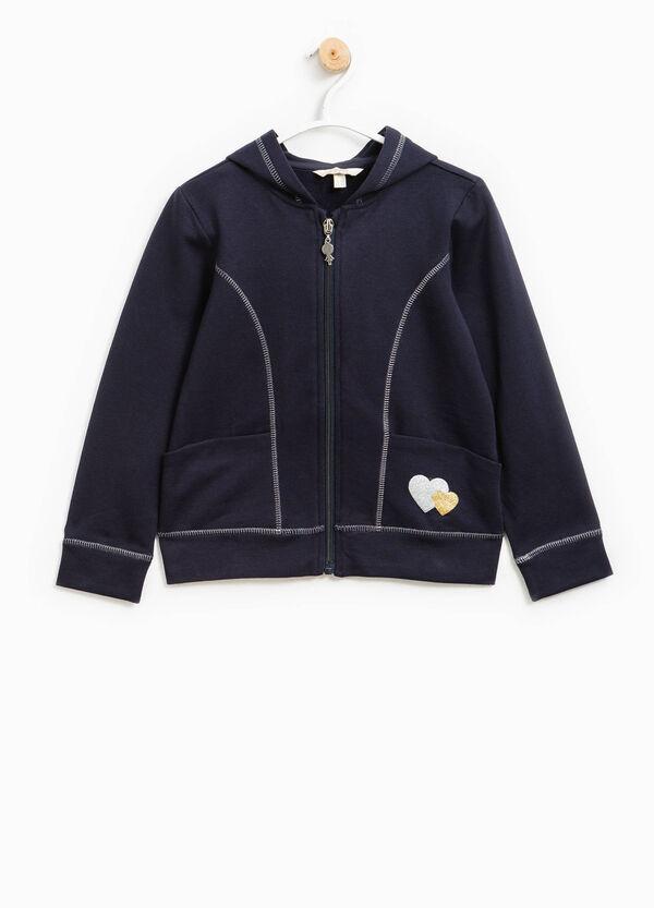 Stretch cotton sweatshirt with glitter | OVS