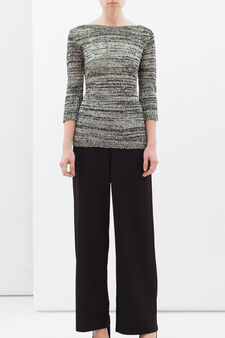 Cotton blend, sequin pullover, Black, hi-res