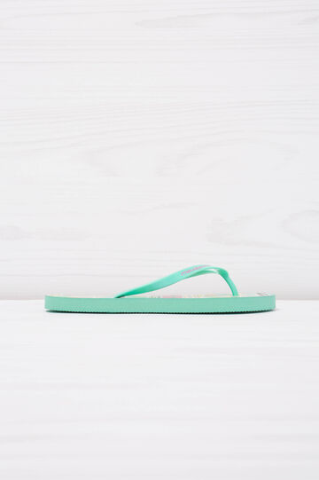 Printed thong sandals by Maui and Sons, Green, hi-res