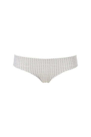 Stretch patterned briefs, White, hi-res