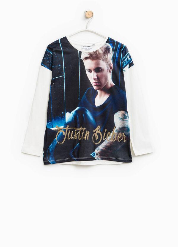 Maxi Justin Bieber print T-shirt | OVS