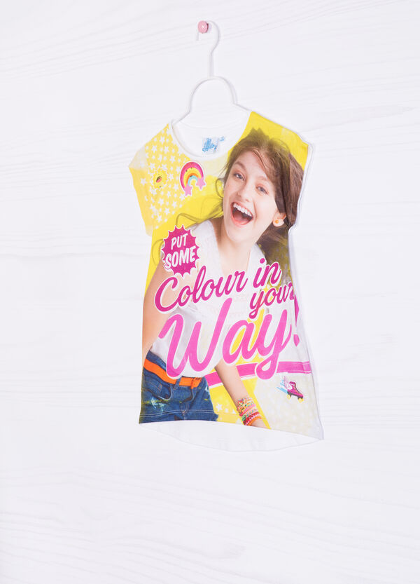100% stretch cotton T-shirt with Soy Luna print | OVS