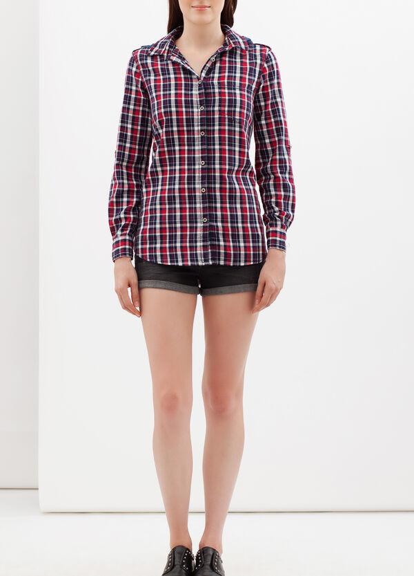 Tartan shirt with denim hood. | OVS