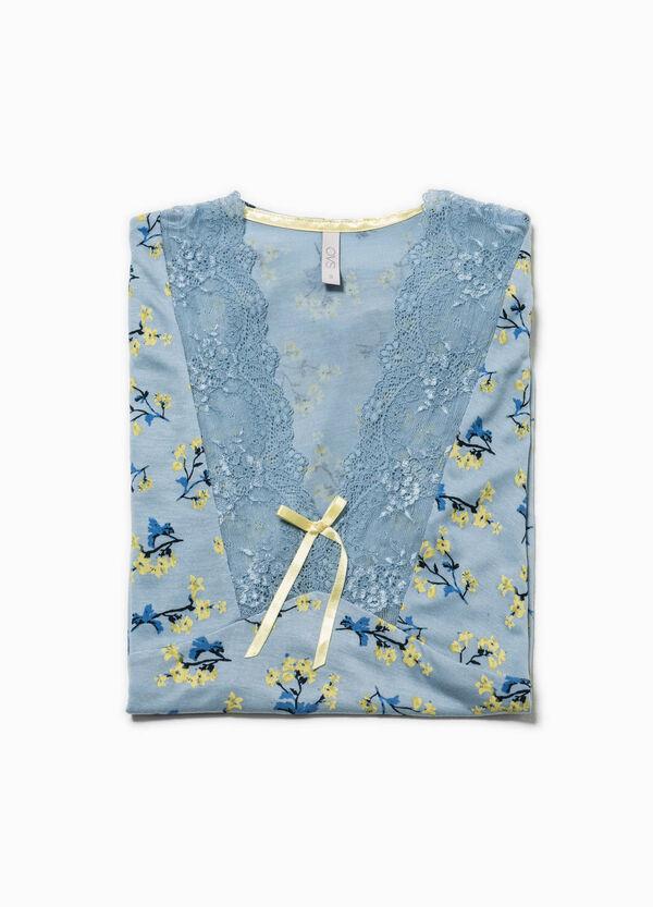 Camiseta de pijama con flores y encaje | OVS