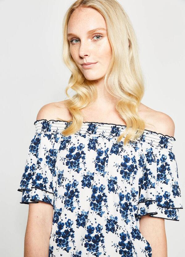 Off-the-shoulder patterned blouse | OVS