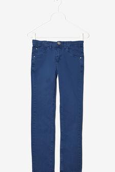 Pantaloni cinque tasche, Blu avio, hi-res