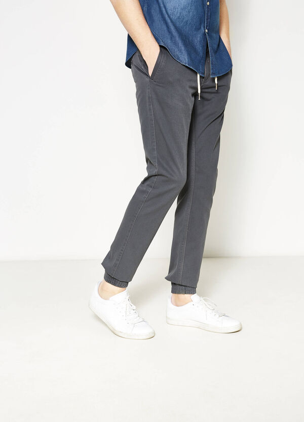 100% cotton jogger-fit trousers | OVS