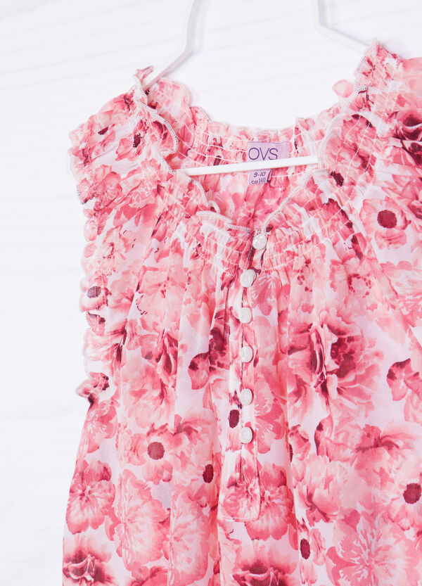 Sleeveless floral shirt | OVS
