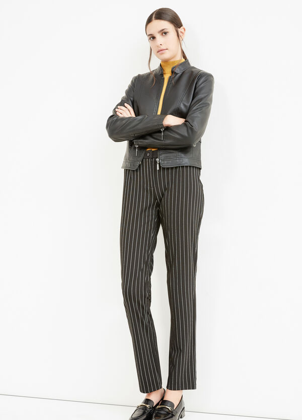 Striped viscose elegant trousers | OVS