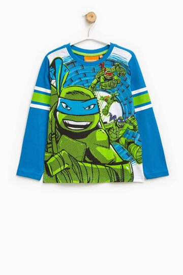 T-shirt with maxi Teenage Mutant Ninja Turtle print, Turquoise Blue, hi-res