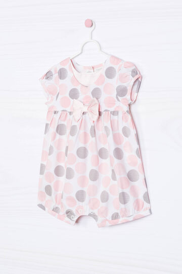 Patterned playsuit in 100% cotton, White, hi-res