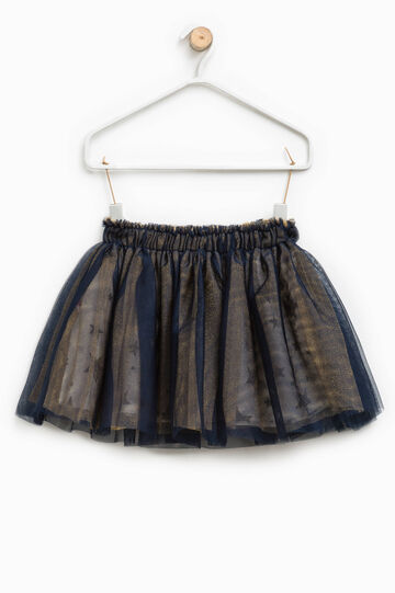 Tulle skirt with star patterned lining
