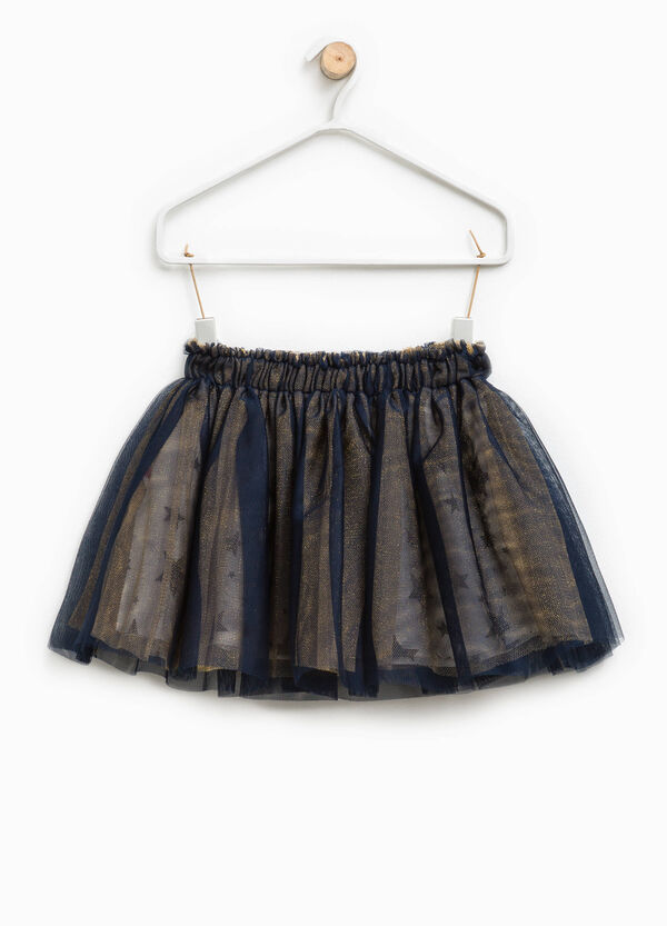 Tulle skirt with star patterned lining | OVS