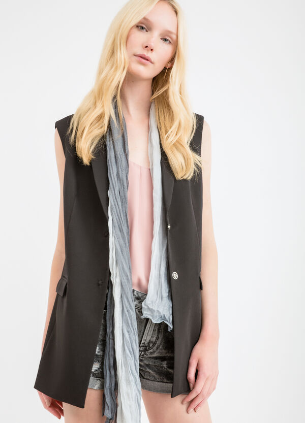 Viscose blend sleeveless jacket | OVS