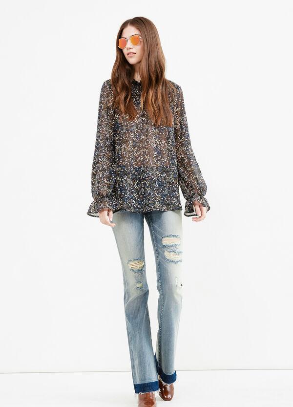 Jeans flare fit stretch con finta cintura | OVS
