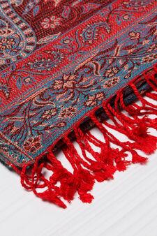 100% viscose scarf with jacquard design, Multicolour, hi-res