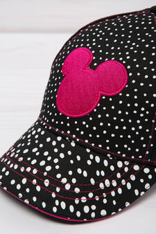 Baseball cap with Minnie Mouse patches., Black, hi-res