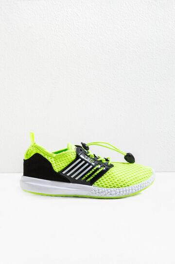 Sneakers con tomaia a rete, Giallo, hi-res