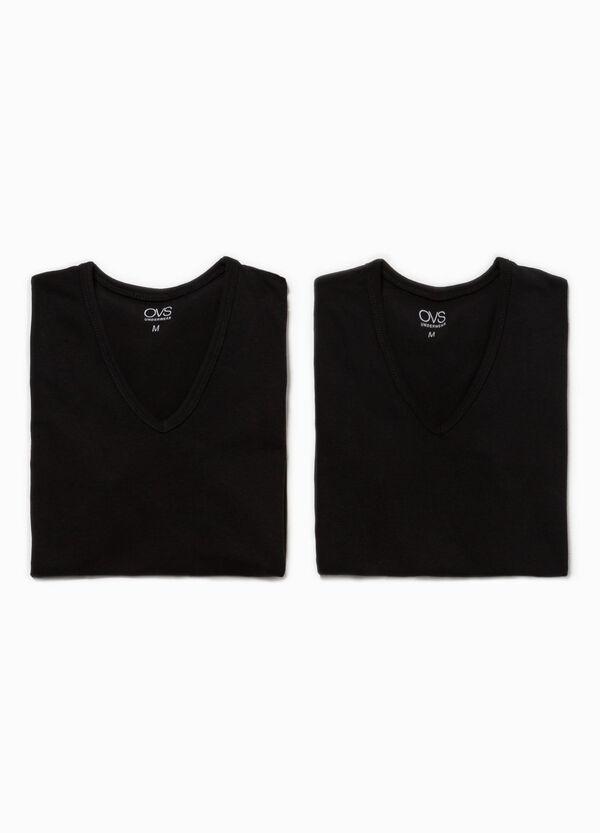 Pack de dos camisetas interiores elásticas | OVS