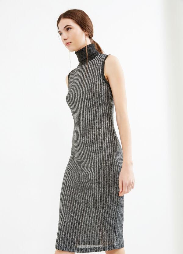 Sleeveless tube dress with lurex | OVS