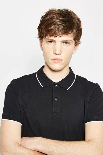 100% cotton polo shirt with contrasting colour trim