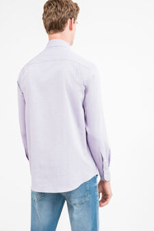 Regular-fit formal shirt with French collar, Purple, hi-res