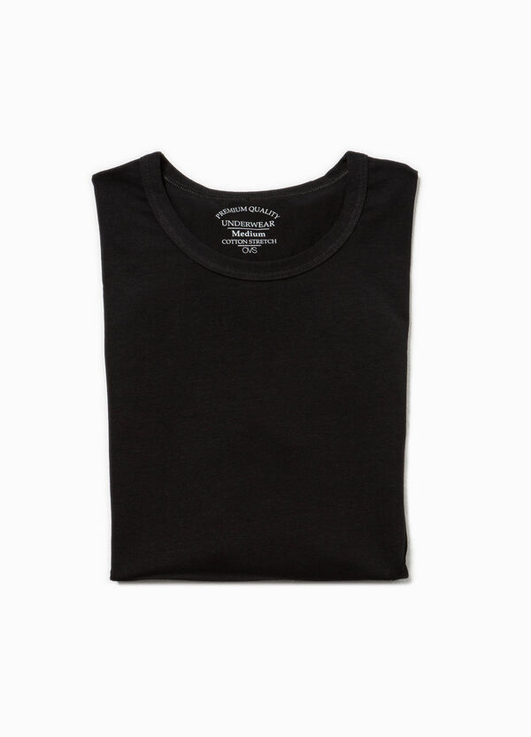 Round neck stretch undershirt | OVS