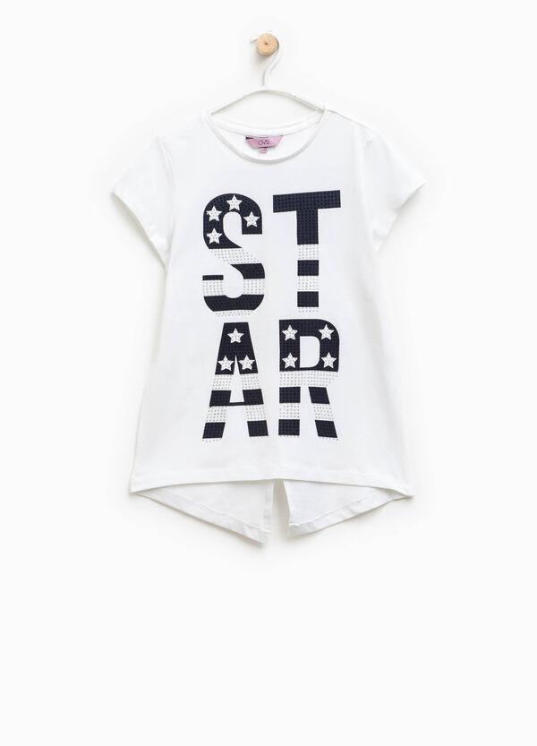 Camiseta elástica con bajo asimétrico   OVS