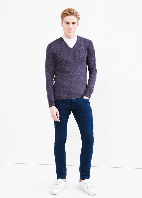 Wool and viscose pullover with V neck   OVS