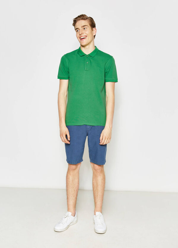 100% cotton polo shirt with bluff collar | OVS