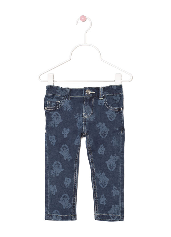 Regular fit floral stretch jeans | OVS