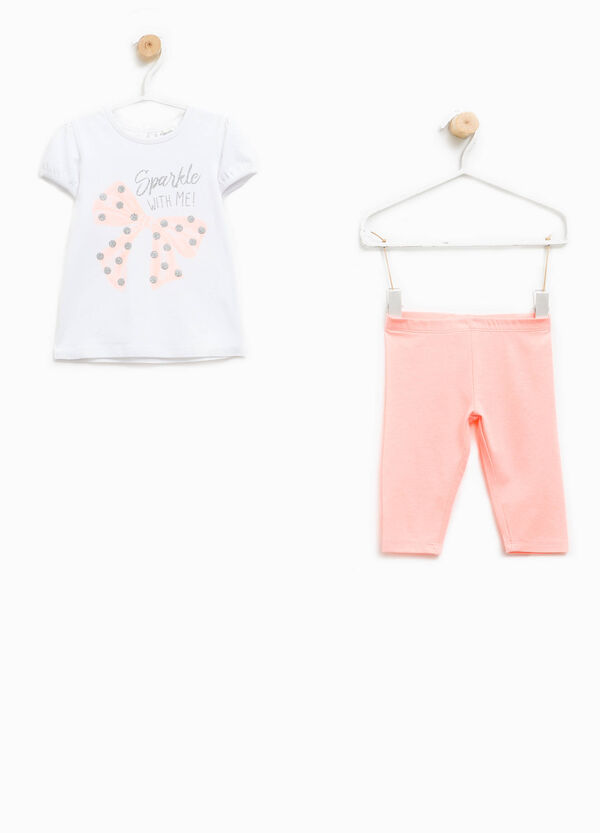 Cotton T-shirt and leggings outfit   OVS
