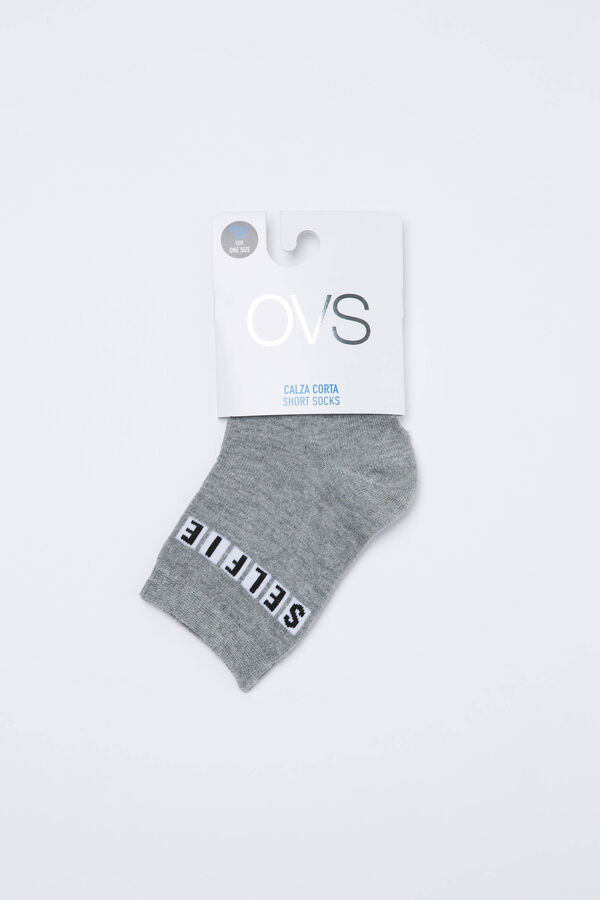 Cotton blend socks with printed lettering | OVS
