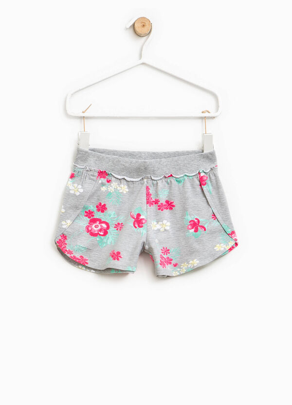 Shorts in cotone stretch floreale | OVS