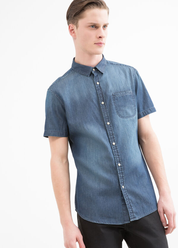 Worn-effect denim shirt | OVS