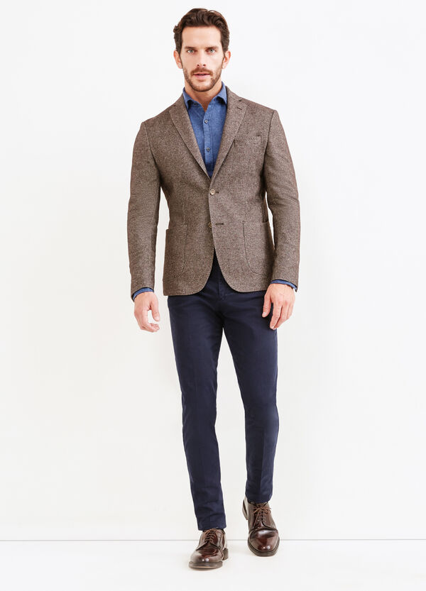 Wool blend and cotton Rumford jacket | OVS