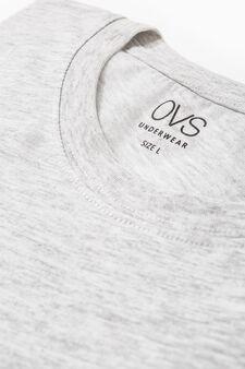 T-shirt intima girocollo cotone, Grigio chiaro, hi-res