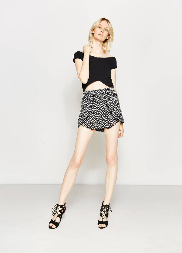 Shorts de viscosa con estampado | OVS