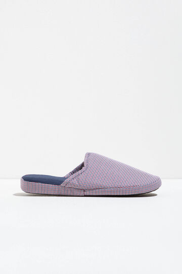 Check pattern slippers, White/Red, hi-res